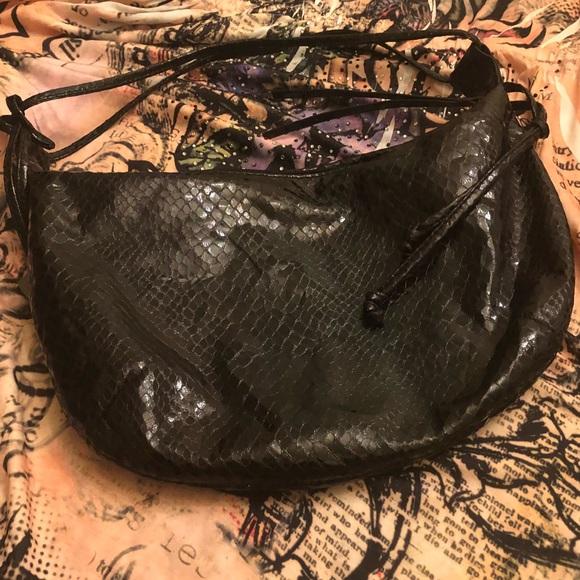 d800e54939d Carlos Falchi Bags | Faux Snakeskin Shoulder Bag | Poshmark